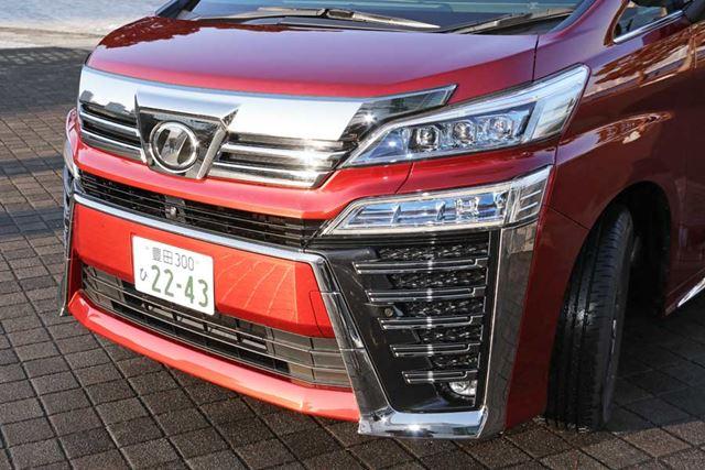 トヨタ 新型「ヴェルファイア」エアロ仕様のフロントフェイス
