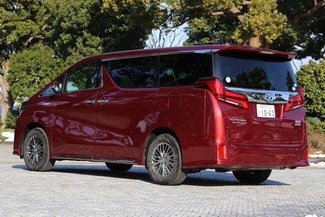 トヨタ 新型「アルファード」のリアイメージ