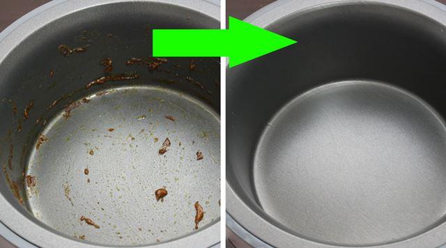 カレーを作ったあともこびり付きが少ないので、ゴシゴシこすったりせずすぐキレイにお手入れできます