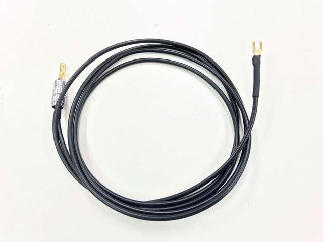「iPurifier AC」のアース端子に接続できるケーブルもオプションで用意されている