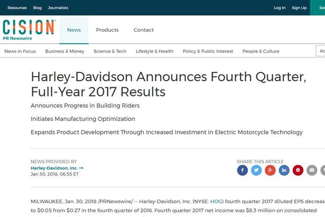 ハーレーダビッドソンが電動バイク市場へ参入