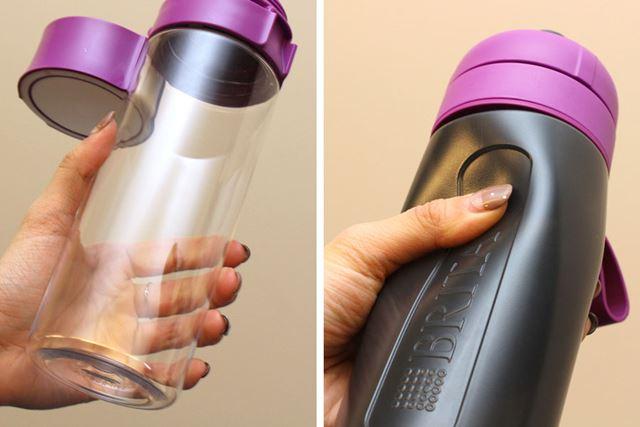 もっとも大きな違いは、ボトル本体の素材です