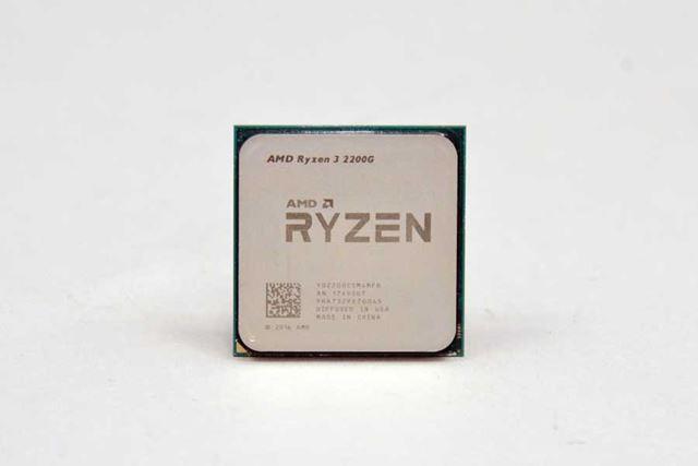こちらは4コア/4スレッドの「Ryzen 3 2200G」