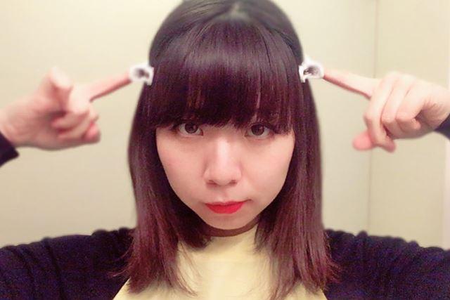 前髪と、そうじゃない部分の髪とで分けました