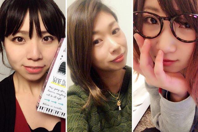 参加メンバーは、左から、ペパーミント、天野明香(あまのさやか)、Arrow(アロー)!