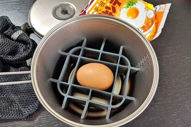 生卵が1つ収納できます