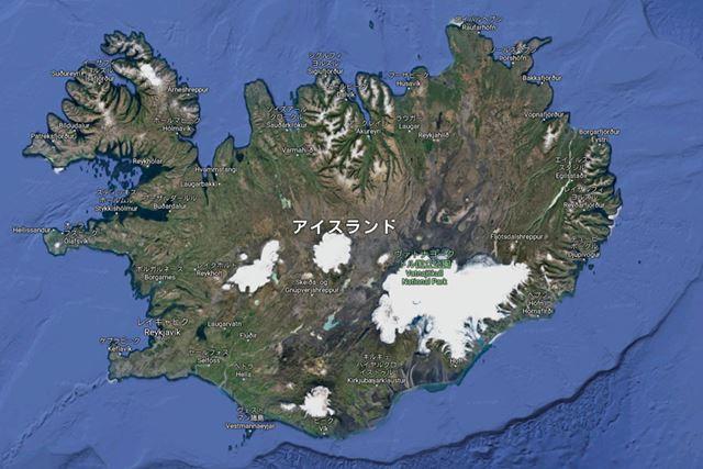 北欧の島国、アイスランドでは仮想通貨のマイニング施設が集中しているという(画像はGoogleマップより)