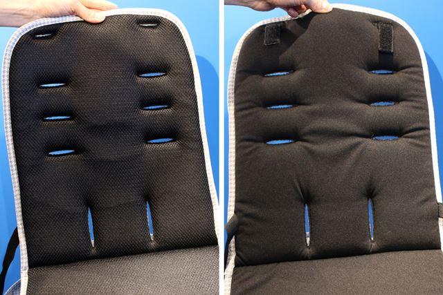 シートは裏表で素材が異なり、季節にあわせて使い分け可能