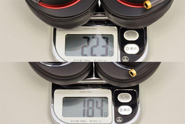 本体サイズの小型化や素材の見直し等により、「MDR-1A」に比べて約40gほど軽くなっている