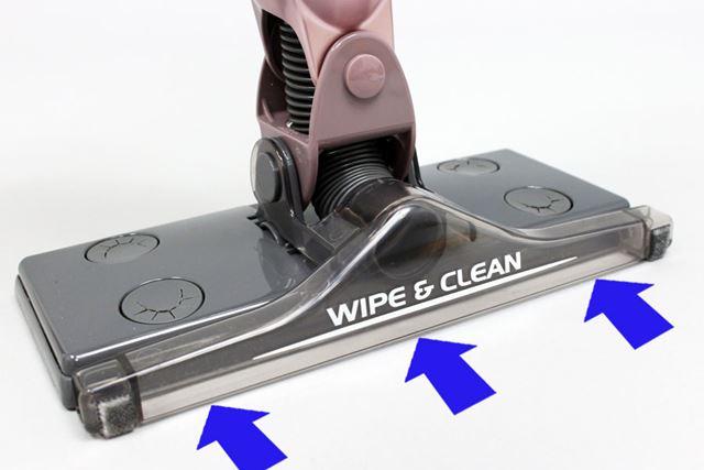 なお、掃除機がけすると最初にゴミがノズルから吸い込まれ、そのあとシートで拭き掃除されます