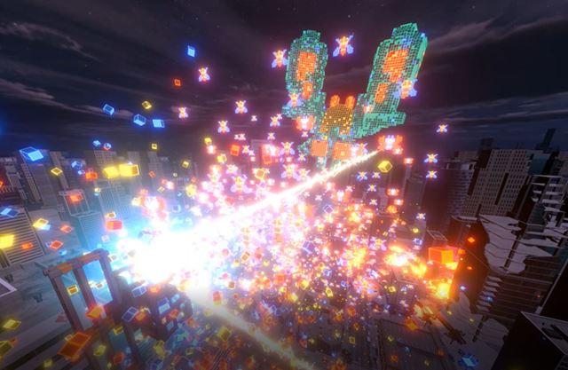 「HTC Vive Pro」で美しく現代によみがえったギャラガの世界は、まるで映画「ピクセル」のようです
