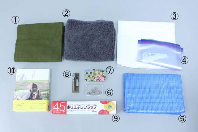 ゴミ袋は、工夫次第で防寒にも使えます