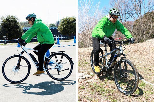 会場外には自転車の性能をチェックできるように、いくつかのコースが用意されていた