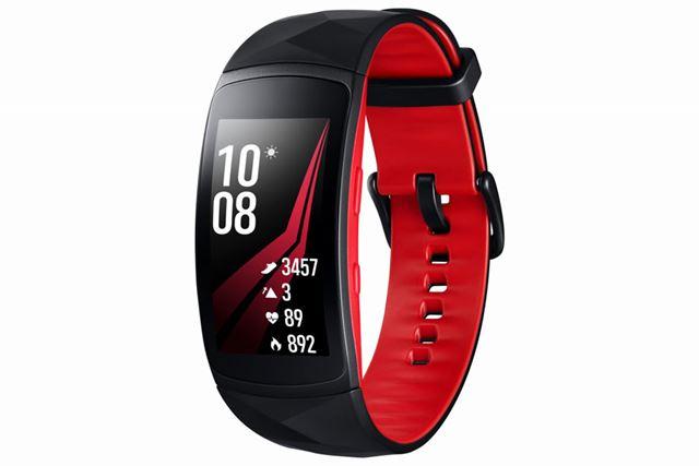 有機EL曲面ディスプレイを採用した「Galaxy Gear Fit2 Pro」