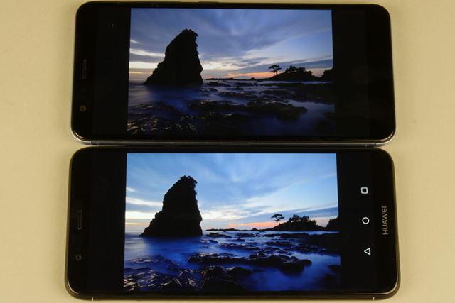 上が「ZenFone Max Plus (M1)」で、下が「nova lite 2」