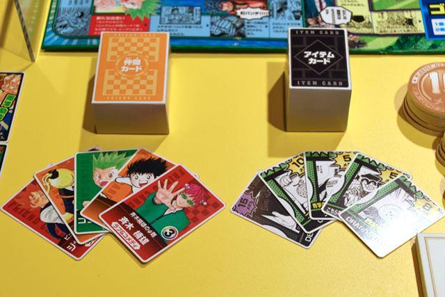 「仲間カード」や「アイテムカード」にも人気キャラクターがてんこ盛り!
