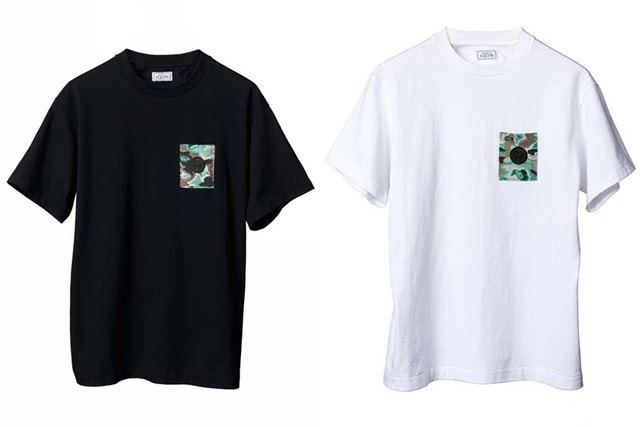 「IQOS CAMO T-SHIRT (BLACK、WHITE) 」。各4,980円(税込)。ブラックがメンズ、ホワイトがレディース