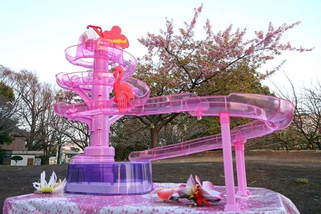 完成形がこちら。桜とマッチしてキレイです