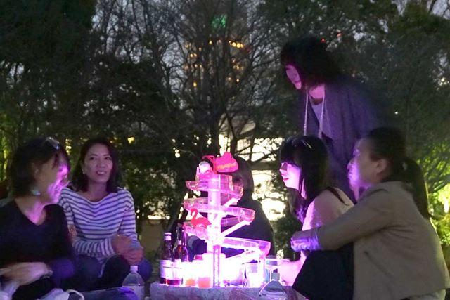 夜桜×流しそうめん×ガールズ・パーティー