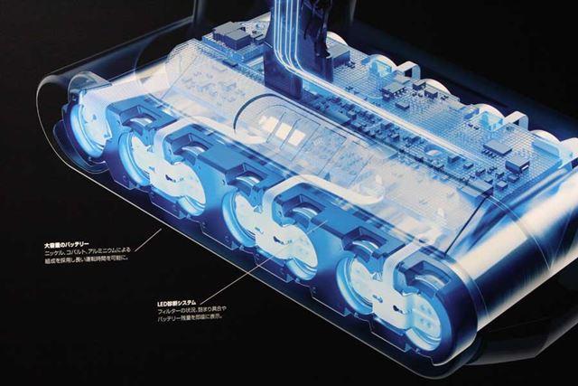 ニッケル、コバルト、アルミニウムによる組成を採用した7セル構造のバッテリー