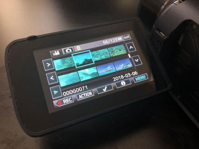 水中撮影でもタッチパネル操作以外はズーム等も使える