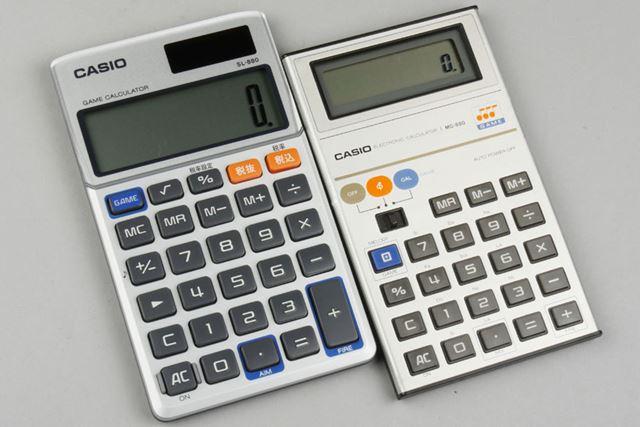 38年ぶりに復活した「SL-880」(左)とオリジナルの「MG880」(右)