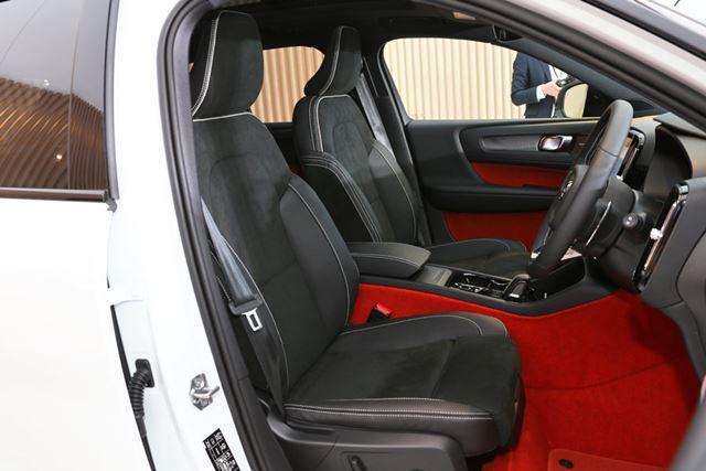 ボルボ「XC40」のフロントシート