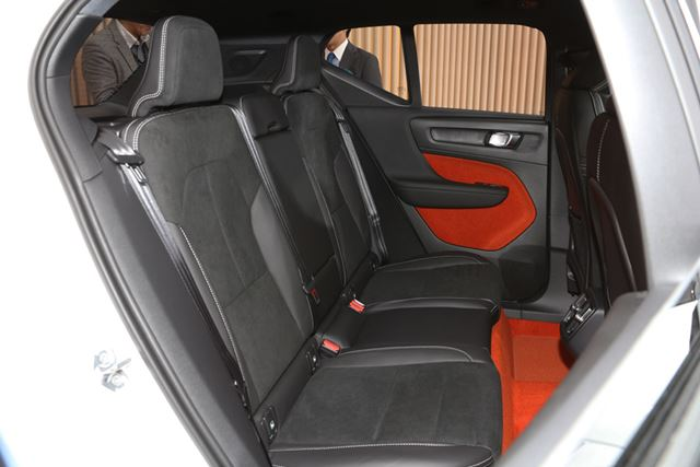 ボルボ「XC40」のリアシート