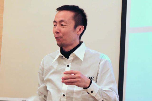 「自分の人生を改善するためにCOMPを作った」という、COMP代表取締役社長 鈴木優太氏