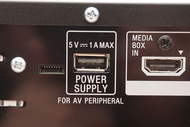 電源供給専用のUSBパワーサプライポートを搭載