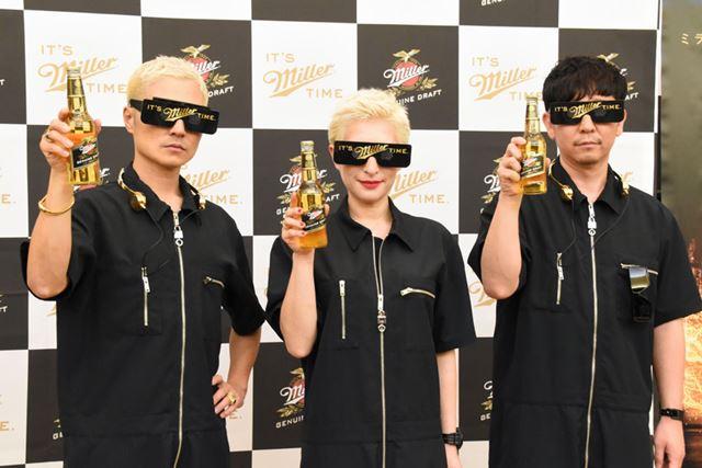 2017年、15年ぶりに復活した「m-flo」。左から、VERBAL、LISA、☆Taku Takahashi