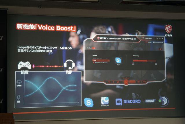 新機能「Voice Boost」は、ボイスチャットとゲーム音声のボリュームバランスを最適に調整できるという