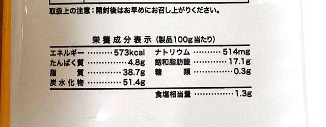食塩相当量1.3gというのは今回紹介している中でもっとも多いです