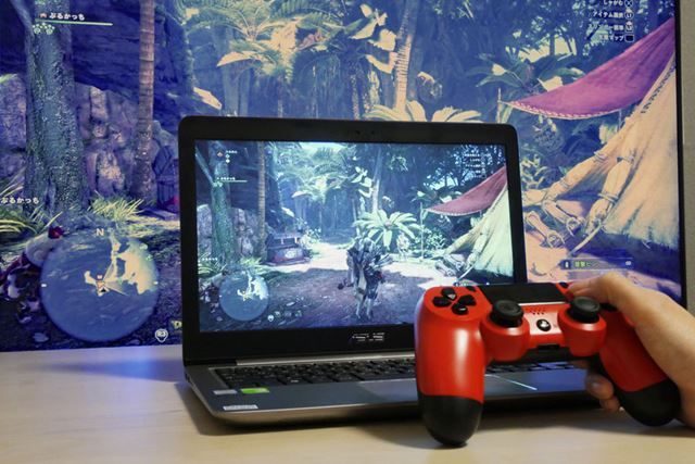 PCでのリモートプレイは快適。PS4のDUALSHOCKをそのまま流用できるのも助かります