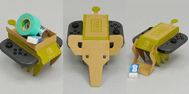 別のパーツを使ってカスタマイズ(左からトラック、象、ショベルカー)