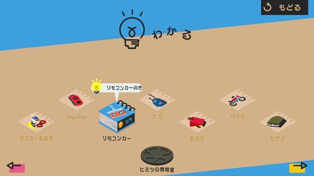 「わかる」では、各「Toy-Con」の仕組みや詳細な操作方法、遊び方などを教えてくれます