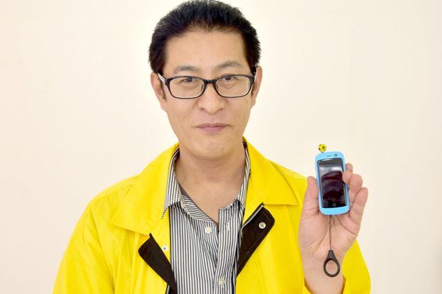 モバイルプラザ店長、古川敏郎氏。好きなPDAは「(形も機能も)小さくてかっこいい端末」