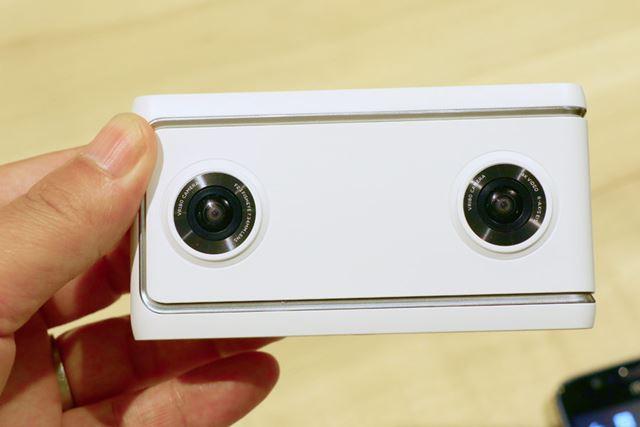 デュアル魚眼カメラのMirage Camera