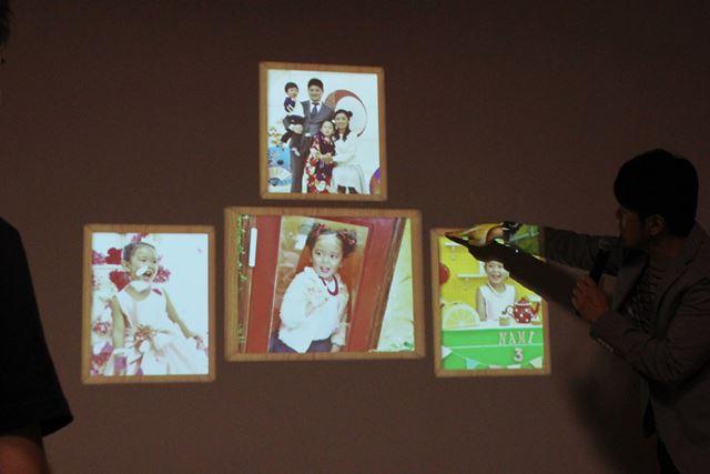 「マジックインテリア」機能を使って写真を壁に表示させ、デジタルフォトフレームのように使うのもアリ