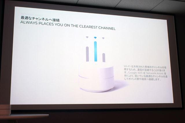 空いているチャンネルに自動で切り替えることで、より高速かつ安定したWi-Fi接続を実現