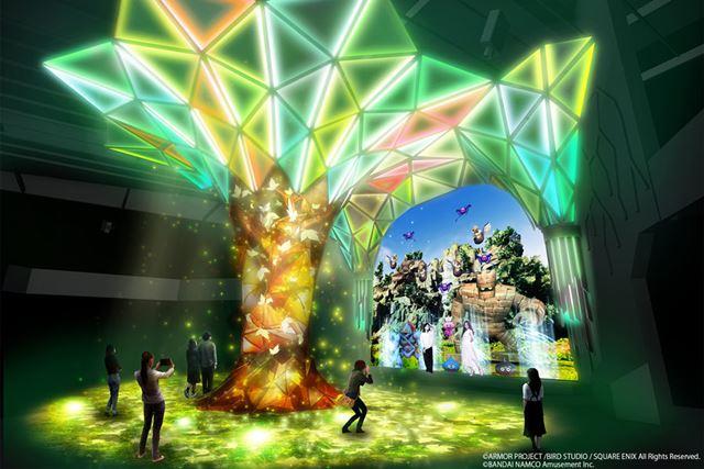 世界樹とフィールドをイメージしてデザインされたセントラルホール