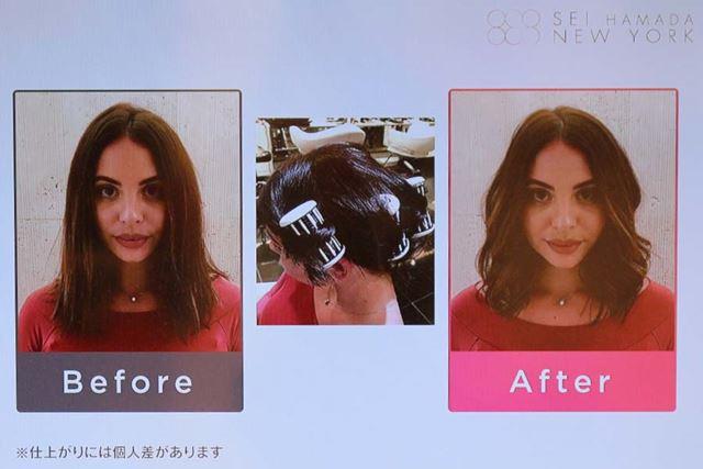 「ロックンローラー」は、長い髪にも使用することができます