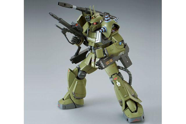 付属武装は、「ザク・バズーカ」「ザク・マシンガン」「ヒート・ホーク」の3種類