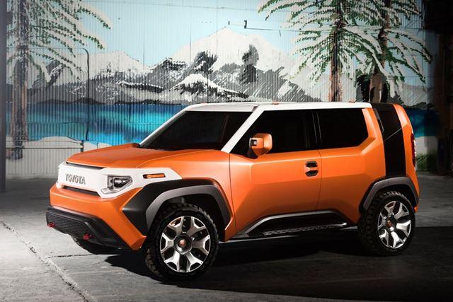 2017年4月のニューヨーク国際自動車ショーで世界初披露されたトヨタのSUVコンセプトカー「FT-4X」。