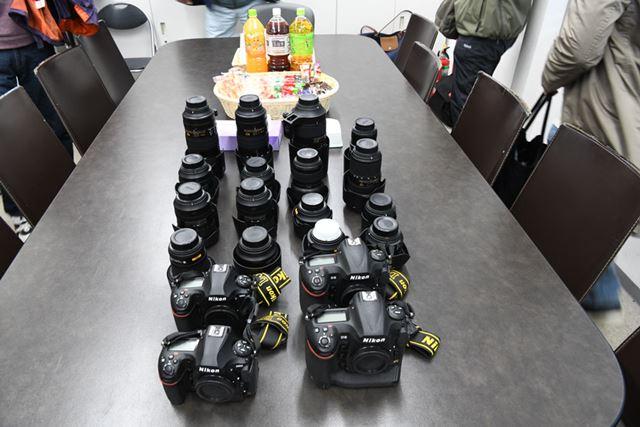 大人気の「D850」や「AF-S NIKKOR 24-70mm f/2.8E ED VR」も貸し出し機材として用意された