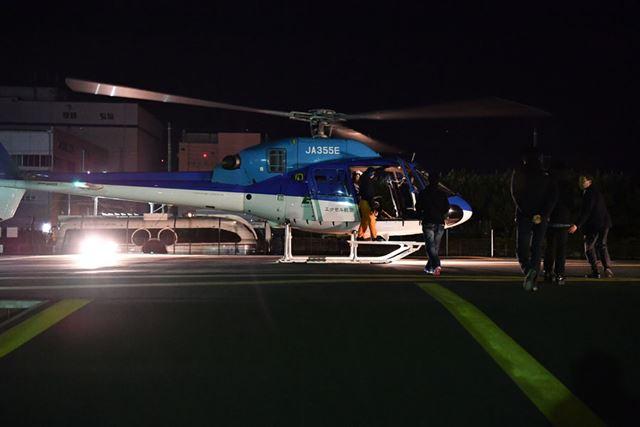 ヘリコプターに乗っていざ東京タワーへ