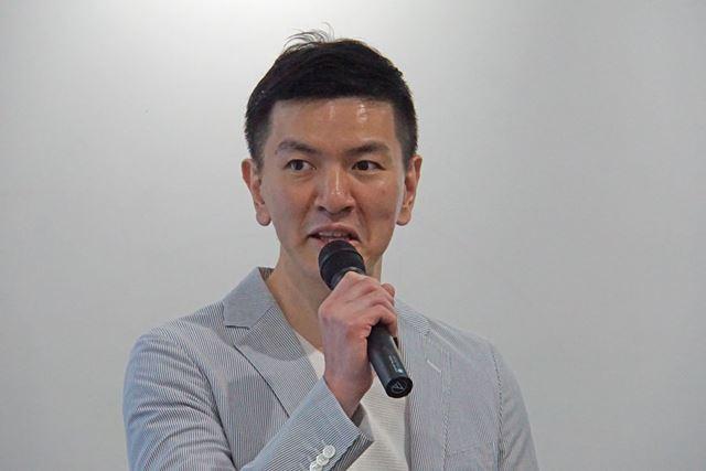 発表会に登壇した同社代表取締役の井戸義経氏