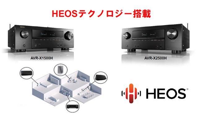 デノン独自のネットワーク再生システム「HEOS」連携もサポート
