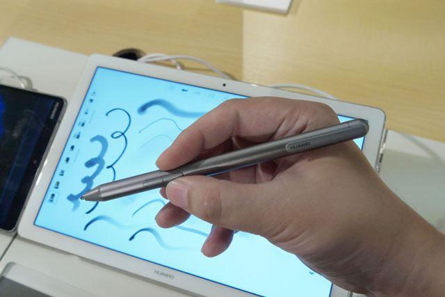 付属するデジタルペン「HUAWEI M-Pen」
