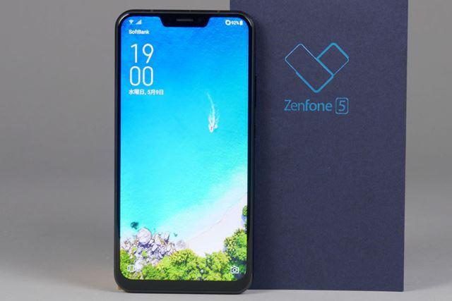 ノッチに加えAIを採用した「ZenFone 5」